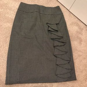 Express Studio Pencil skirt with ruffle